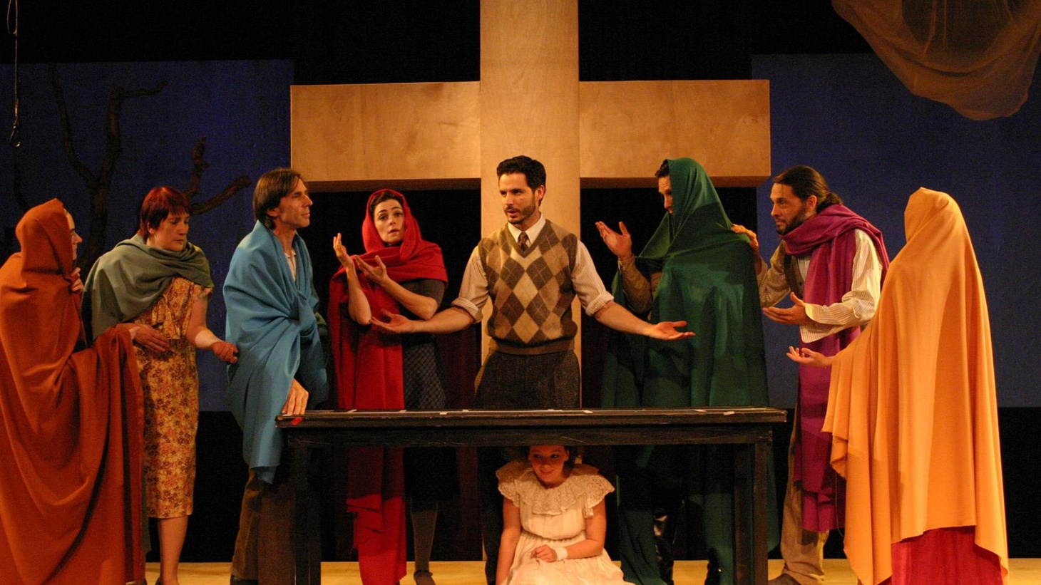 The Evidence Room latest production at the Odyssey Theatre features three different communities who all put up their own production of a passion play.