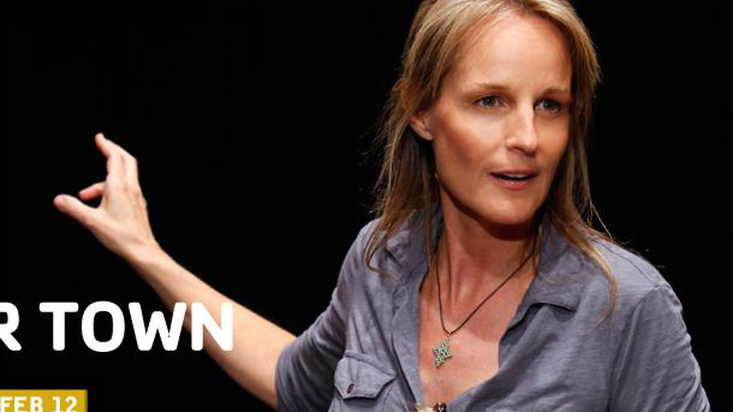 Anthony Byrnes talks with actress Helen Hunt and David Cromer about their production of Our Town, now at the Broad Stage.