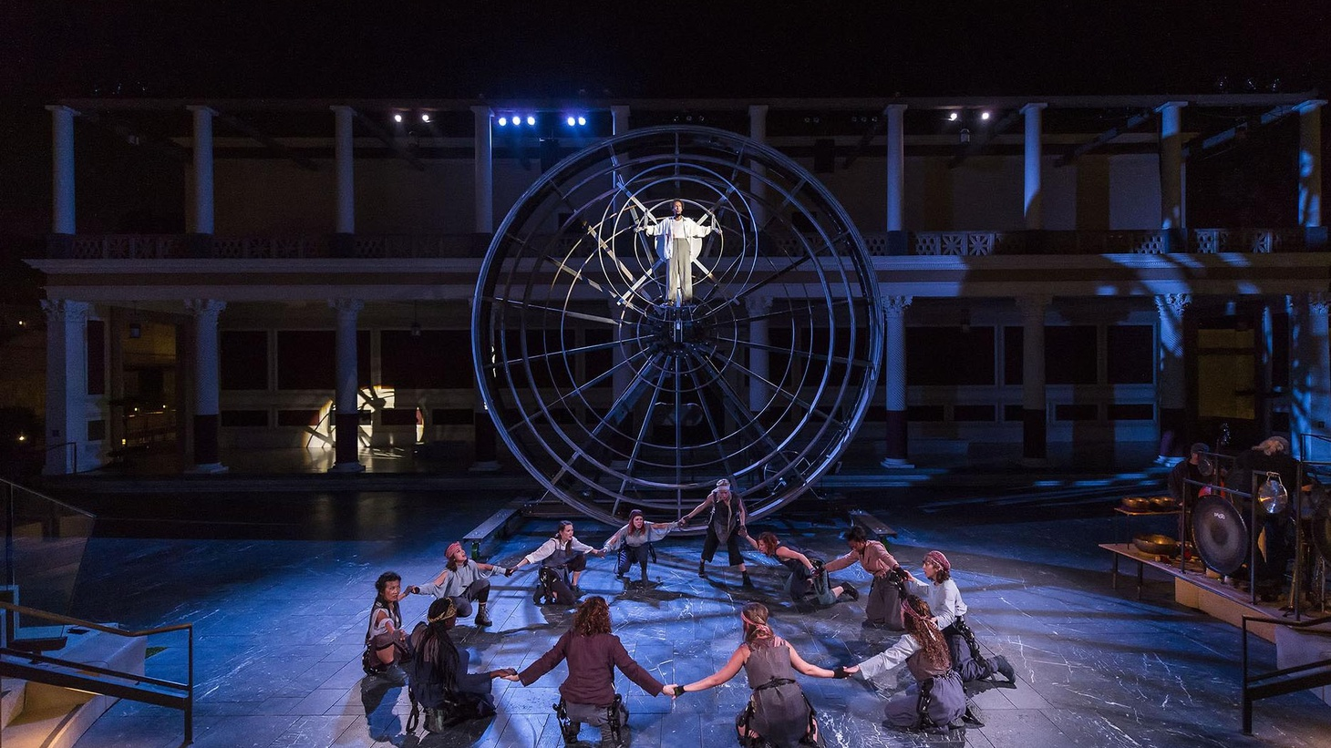 """How do you engage the Getty Villa's architecture and scale without falling prey to it? A look at CalArts Center for New Performance's production of """"Prometheus Bound."""""""