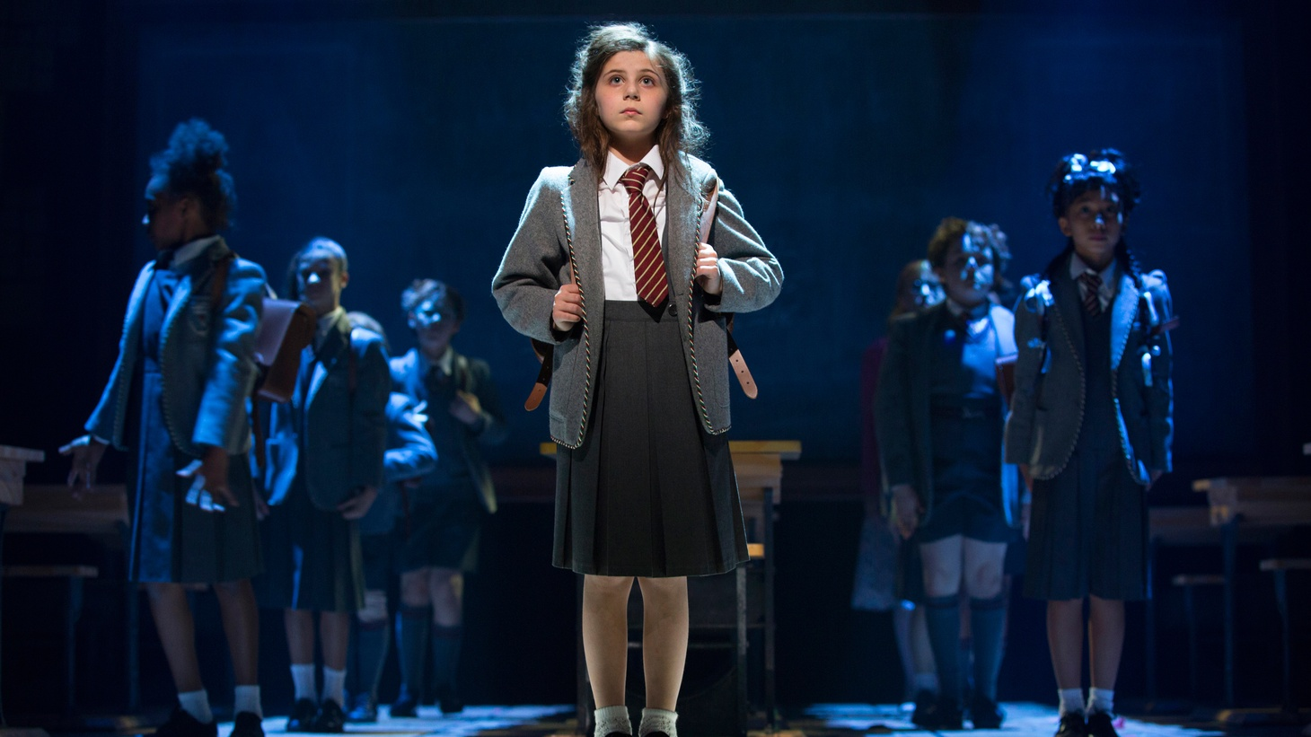 The Royal Shakespeare Company has adapted Raoul Dahl's Matilda into a delightful musical and, now, after stopping in New York to pick up some Tony Awards, it's at the Ahmanson Theatre.