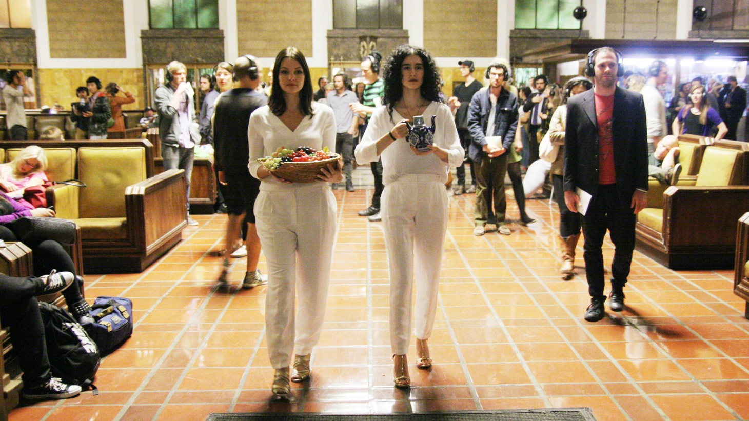 """Director Yuval Sharon sets the new opera """"Invisible Cities"""" within Los Angeles' Union Station, which is both the work's greatest success and most profound challenge."""