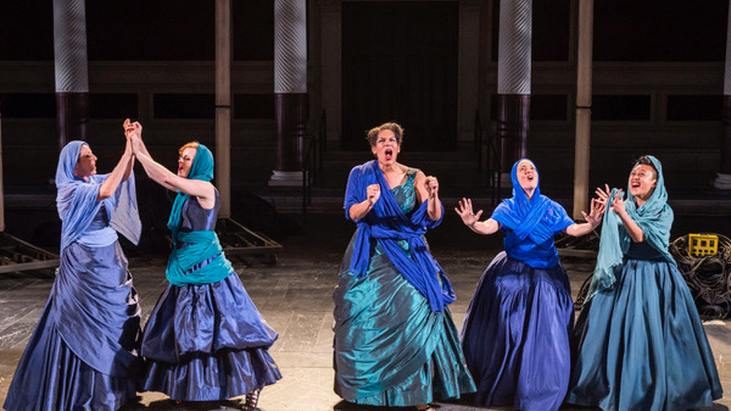 Each fall the Getty opens its outdoor amphitheater in Malibu to a theater company to produce a classic Greek or Roman play for a modern audience. The gods are particularly demanding in Euripedes' final play,  Iphigenia in Aulis , this year's offering, produced by Chicago's Court Theatre.