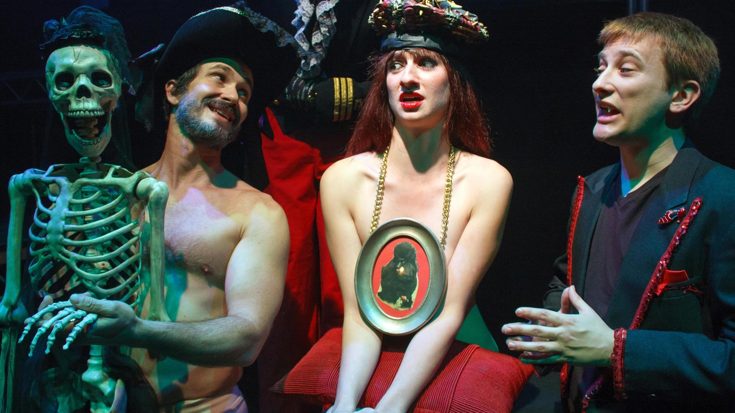 """The plot of """"Moskva,"""" at City Garage, ranges from Satan's ball and the promise of becoming a naked queen of the night to a dialogue between Jesus and Pontius Pilate."""