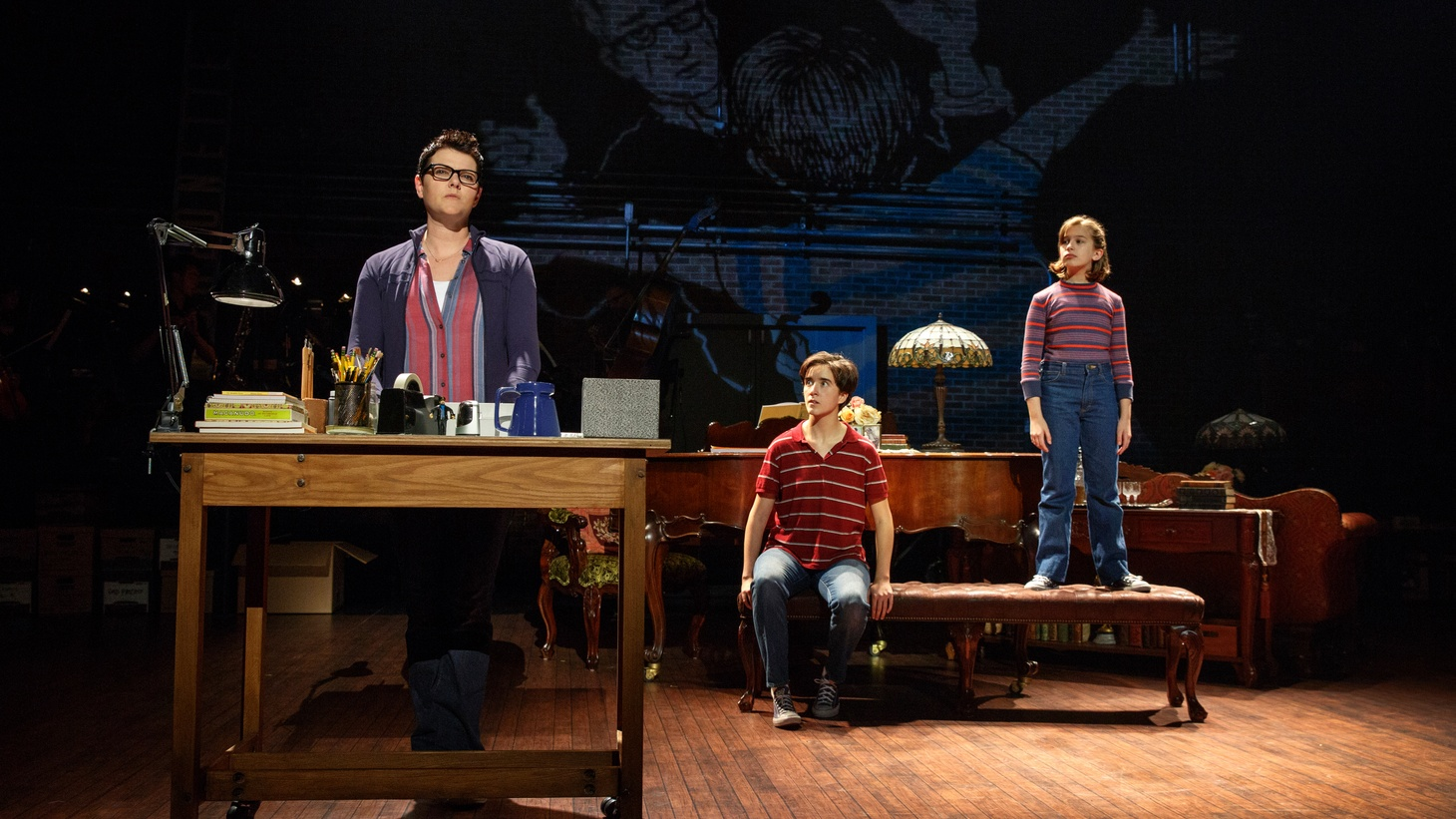 If you're the kind of person who likes a traditional musical -- you know, boy meets girl, hummable tunes, linear narrative structure to a big redemptive finish -- if that's your thing, Fun Home at the Ahmanson is probably just going to frustrate you. If, on the other hand, you're a little more adventurous, it's fantastic.