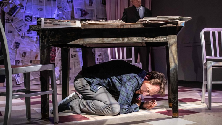 "In the first scene of playwright Steven Leigh Morris' new play ""Red Ink,"" our protagonist makes a cri-du-coeur:   ""What was he thinking?...Why would a successful business man do to his…"