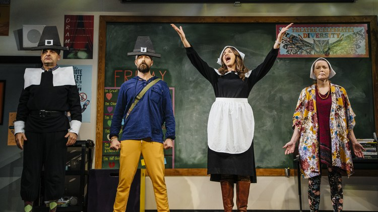 There's a problem with school Thanksgiving plays. But not in the particular high school drama classroom you can see onstage at the Geffen.