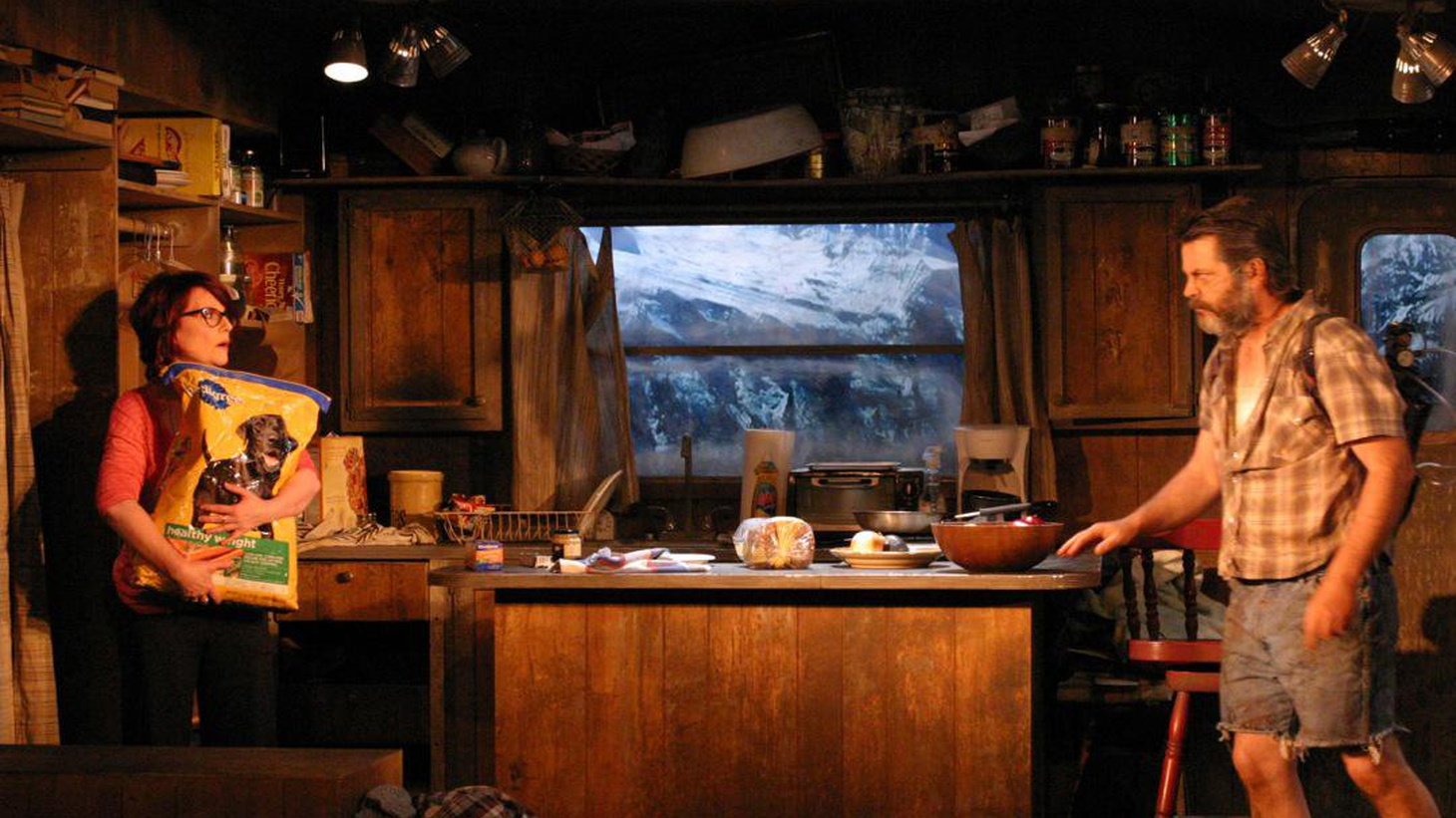 "There's something about ""Annapurna,"" Sharr White's play starring Megan Mullally and Nick Offerman at the Odyssey Theater, that's satisfying like comfort food."