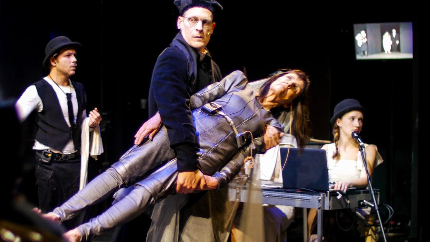 """Watching the Wooster Group's latest piece at REDCAT """"A PINK CHAIR(In Place of a Fake Antique),"""" had me thinking about a quote from Shakespeare and a dumb joke."""