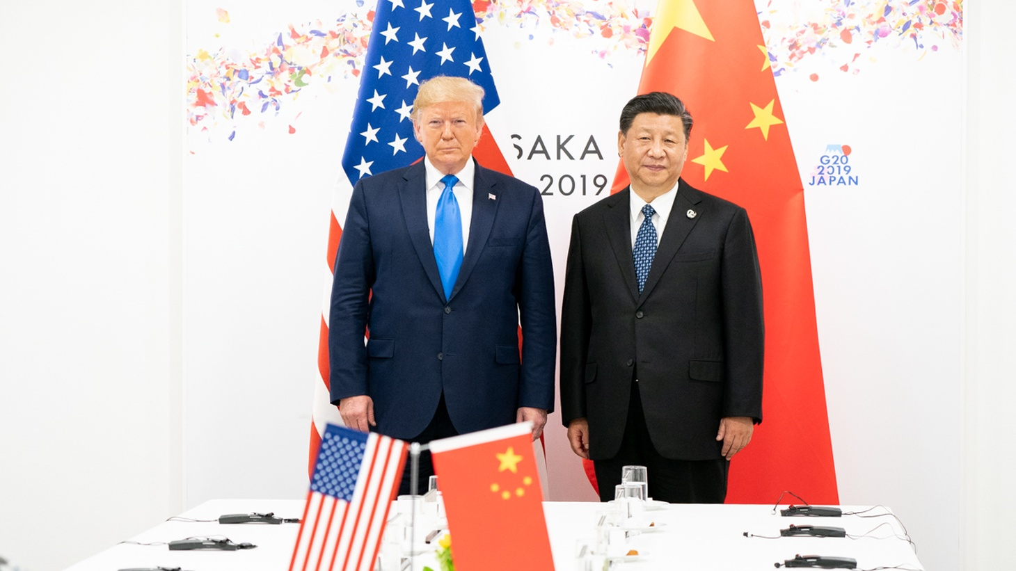 President Trump and President Xi Jinping at the G20 meeting in Osaka, Japan, 2019.