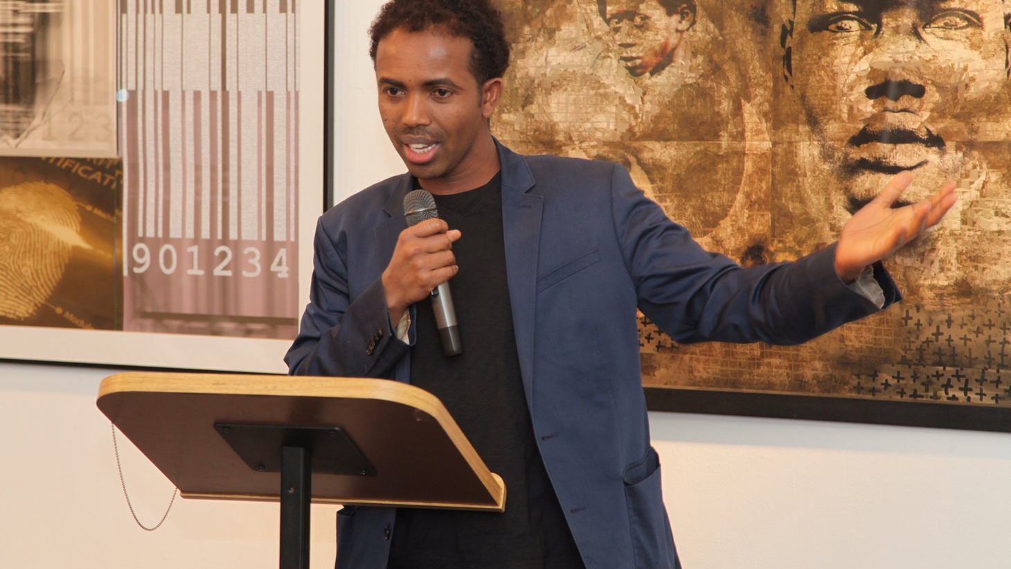 The Somali-born American writer discusses his early life in the war-torn country and becoming an American.