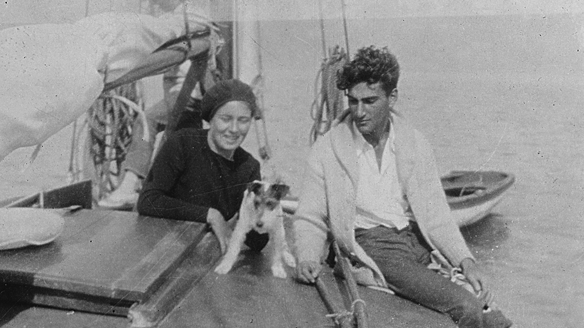Mary and George Oppen on their boat in California, circa 1930
