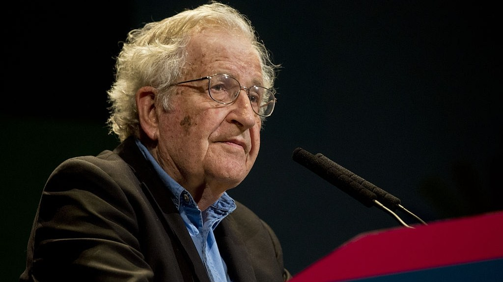 Noam Chomsky speaking at the International Forum for Emancipation and Equality in Buenos Aires, Argentina, on March 12, 2015. The conference was organized by the Argentinian Ministry of Culture of the Nation through the Secretariat of Strategic Coordination for National Thought.