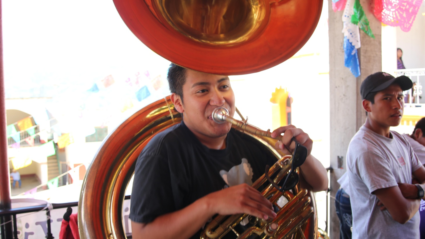 Julian Gonzalez, a teenage tuba player from LA, heads back to the village of Santa María Tavehua to celebrate his musical heritage and to search for his mom.