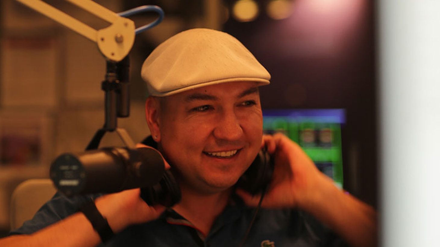 """A profile of KCRW DJ Raul Campos, recorded in Sonic Trace's portable sound booth, """"La Burbuja."""""""