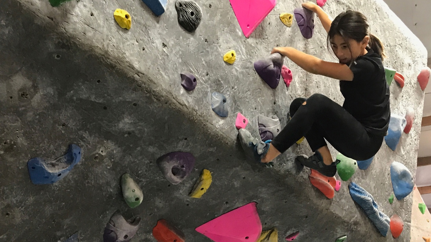 Audrey Sachs has been climbing since she was a toddler.