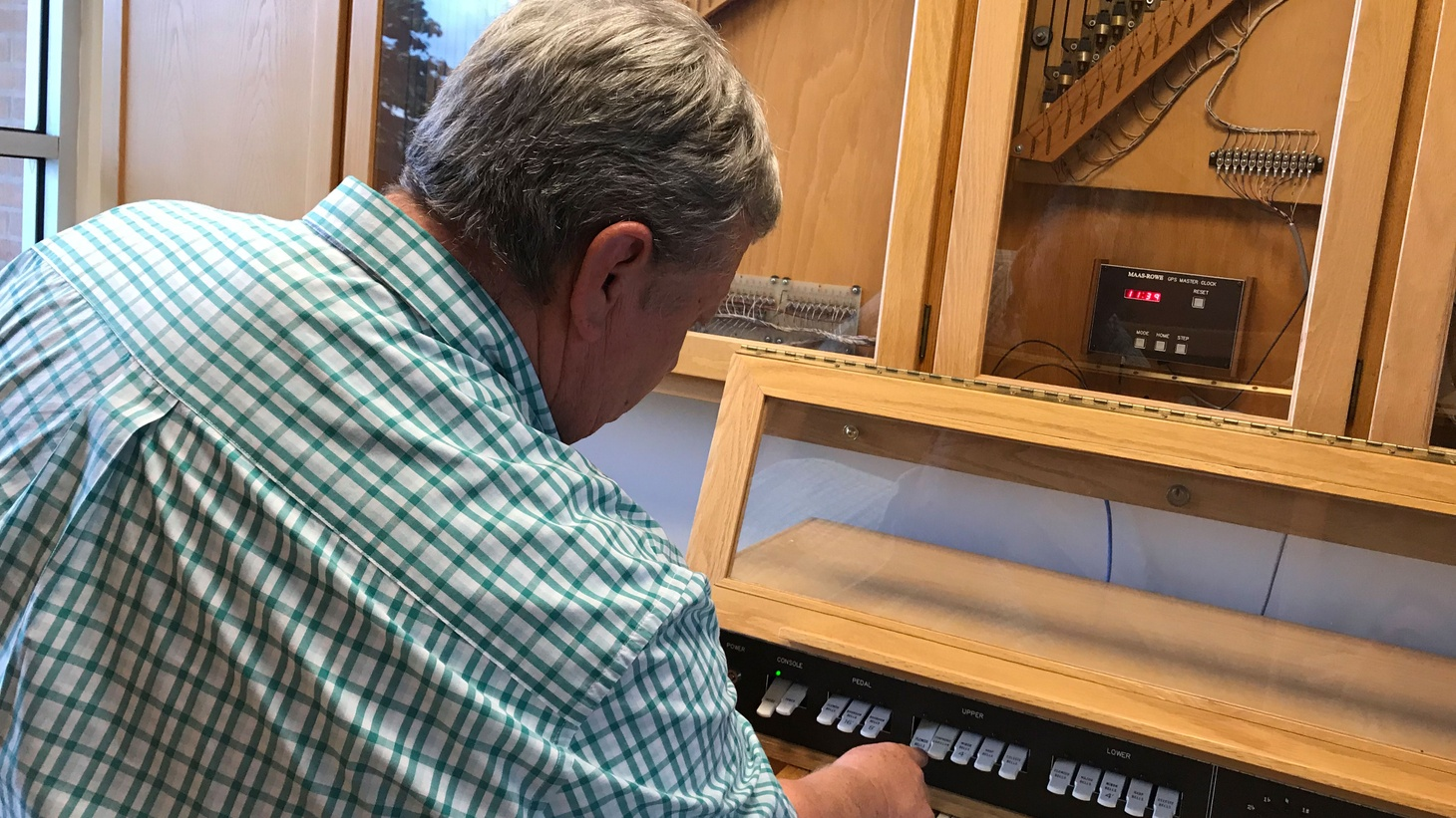 """Jeff Craig has continued as the """"unofficial / official caretaker"""" of the campus carillon system for the last 35 years."""