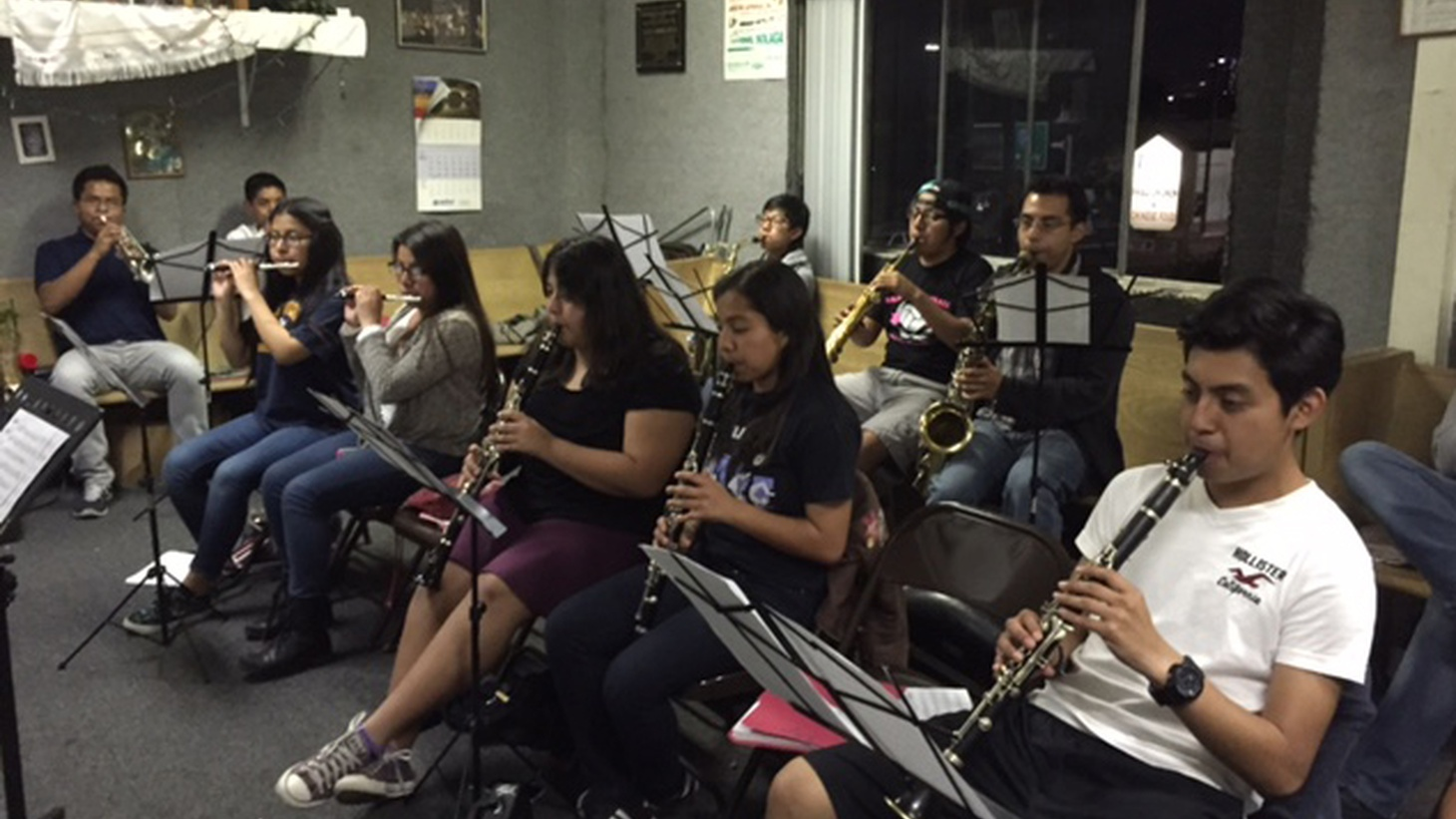 PhD student Daina Sanchez is studying how being in a Oaxacan band in Los Angeles affects young people's Oaxacan identity. So every week, she attends a youth Oaxacan band practice in Koreatown.