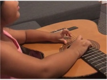 Niece and guitar