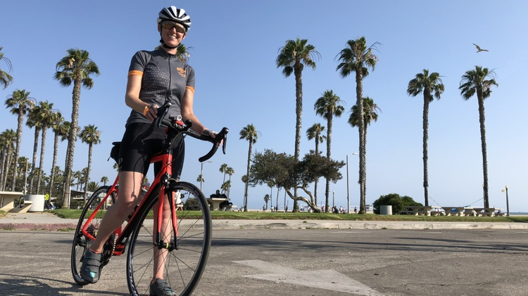 Martina Blumenthal has found passion in cycling. She loves the terrain and the views and the weather here for riding her bike.