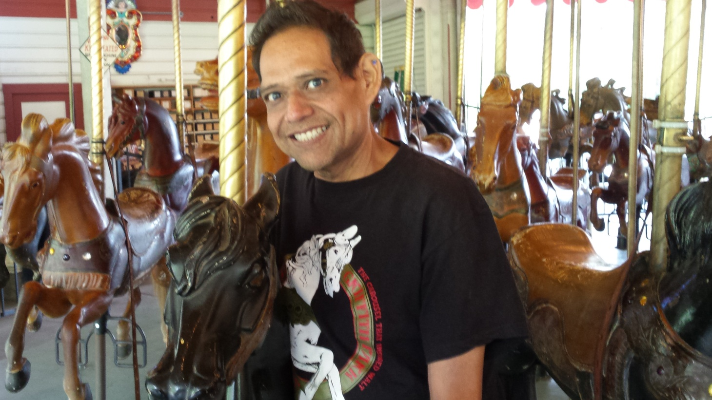 """Julio Gosdinksi runs a stable of sixtysix horses, """"all jumpers."""" In high school, he began working weekends as an operator at the 90year old Griffith Park MerryGoRound, """"this jewel in the park."""""""