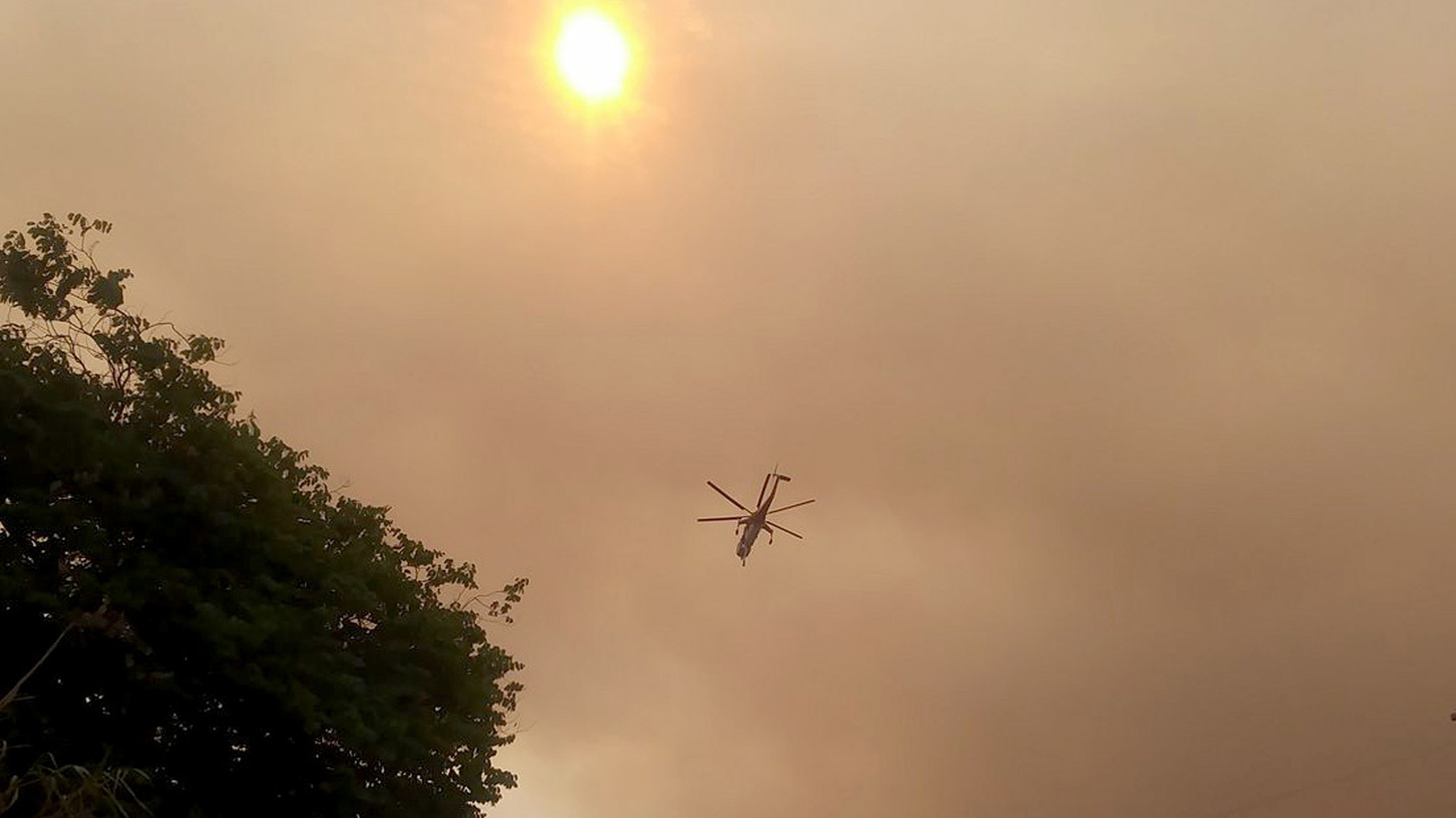 Listener Sal Polcino submitted this sound of a helicopter passing over his house while on its way to fight the LA Tuna Fire.