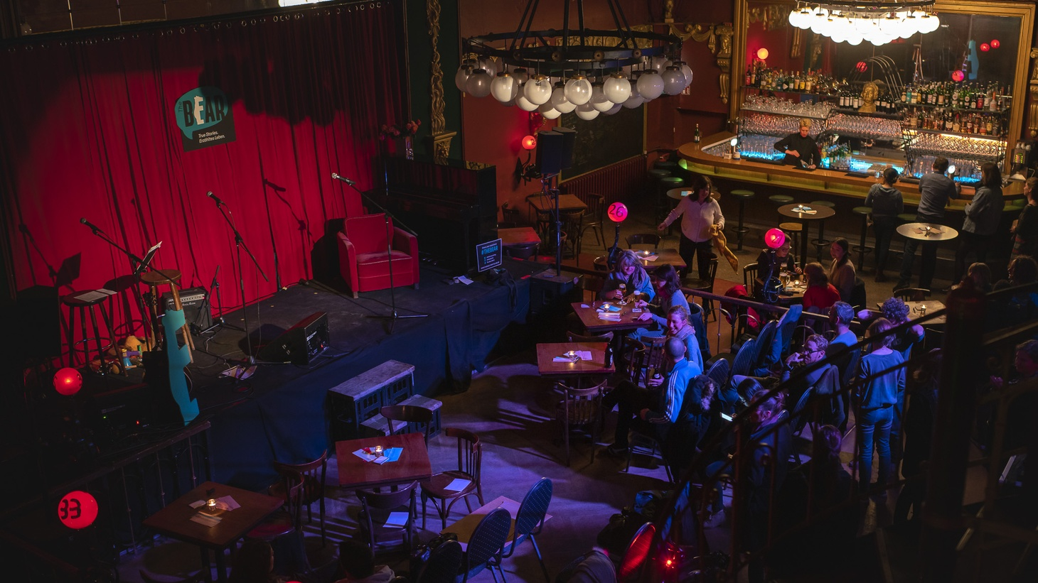 These true, personal stories were recorded live at The Bear on May 16 at Ballhaus Berlin in Mitte.