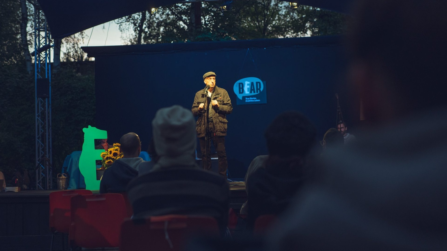 These true, personal stories were recorded live at The Bear on September 18 at the Shakespeare Company's open-air stage in Berlin.
