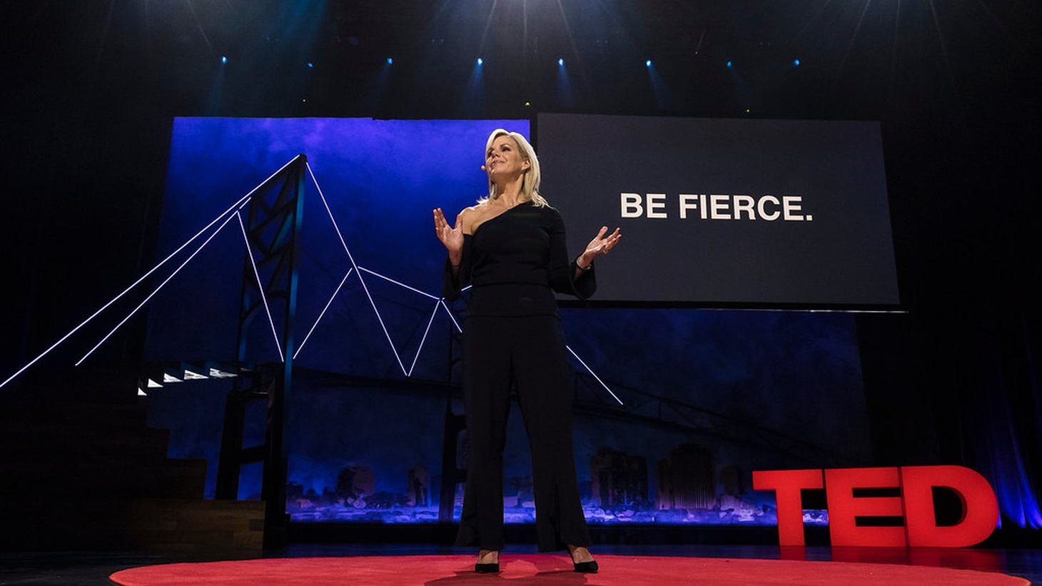 Gretchen Carlson speaks at TEDWomen 2017 — Bridges, November 1-3, 2017, Orpheum Theatre, New Orleans, Louisiana.