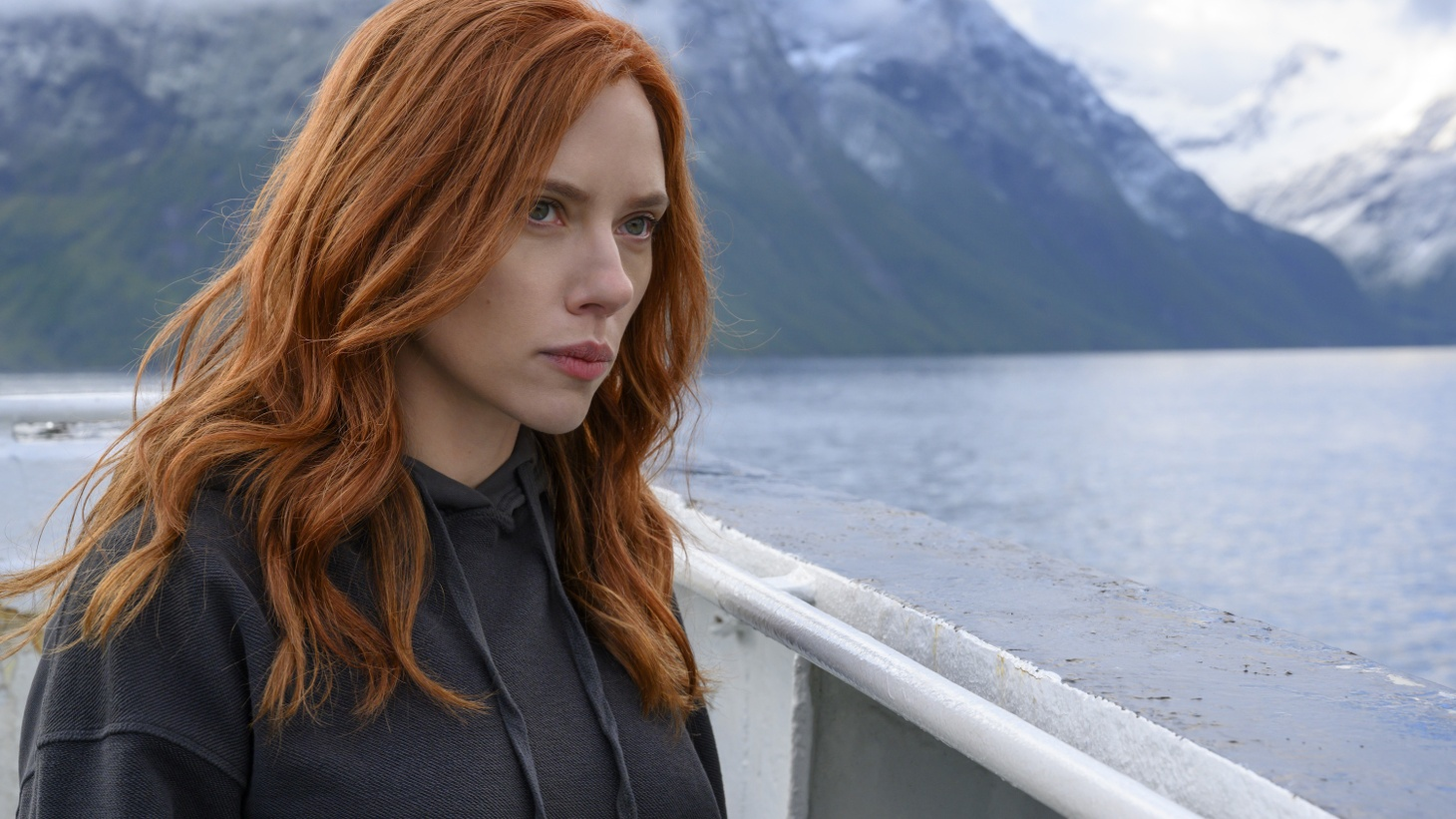 """Scarlett Johansson stars in Disney's """"Black Widow."""" In a new lawsuit, the actress says Disney's decision to put the film on streaming cost her $50 million in box office bonuses."""