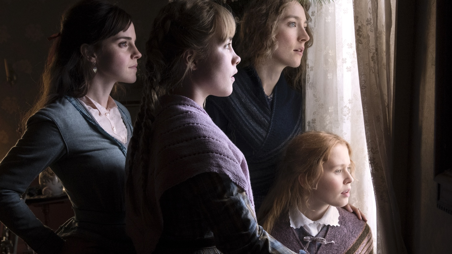 "Emma Watson, Saoirse Ronan, Eliza Scanlen and Florence Pugh in Columbia Pictures' ""Little Women."""