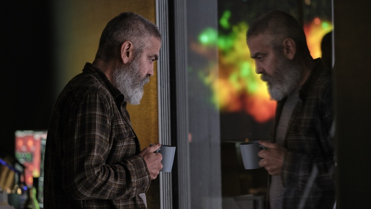 "George Clooney and his long-time producing partner Grant Heslov talk about their new movie ""The Midnight Sky,"" a post-apocalyptic sci-fi drama, now on Netflix."