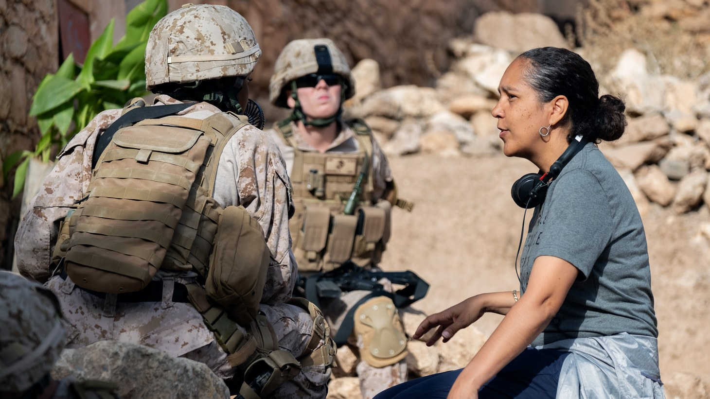 "Gina Prince-Bythewood on the set of ""The Old Guard,"" which made it to the list of 10 most-watched movies on Netflix."