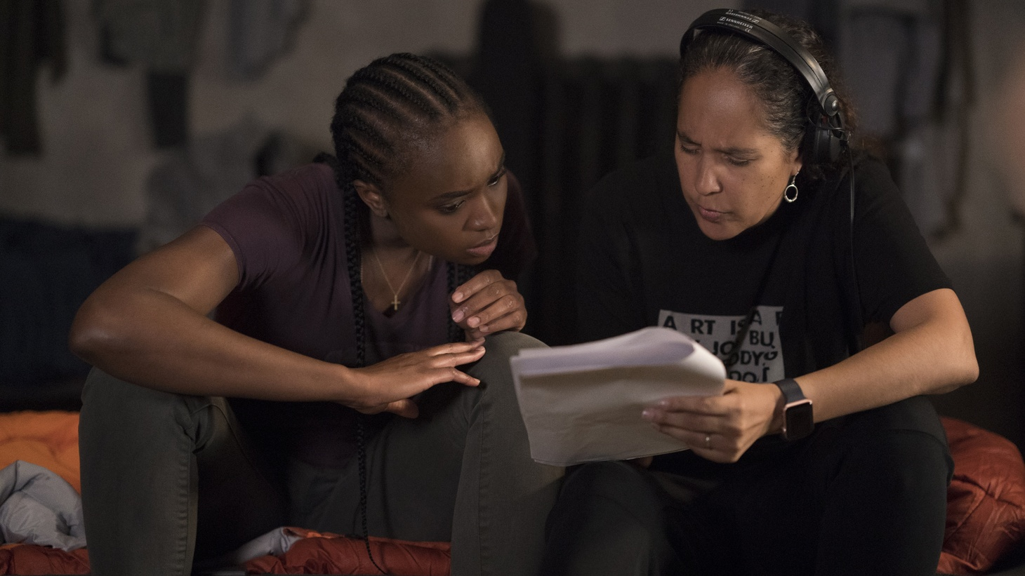 Gina Prince-Bythewood (right) worked with her cast, including Charlize Theron and Kiki Layne (left) to develop the film's intricate fight scenes.