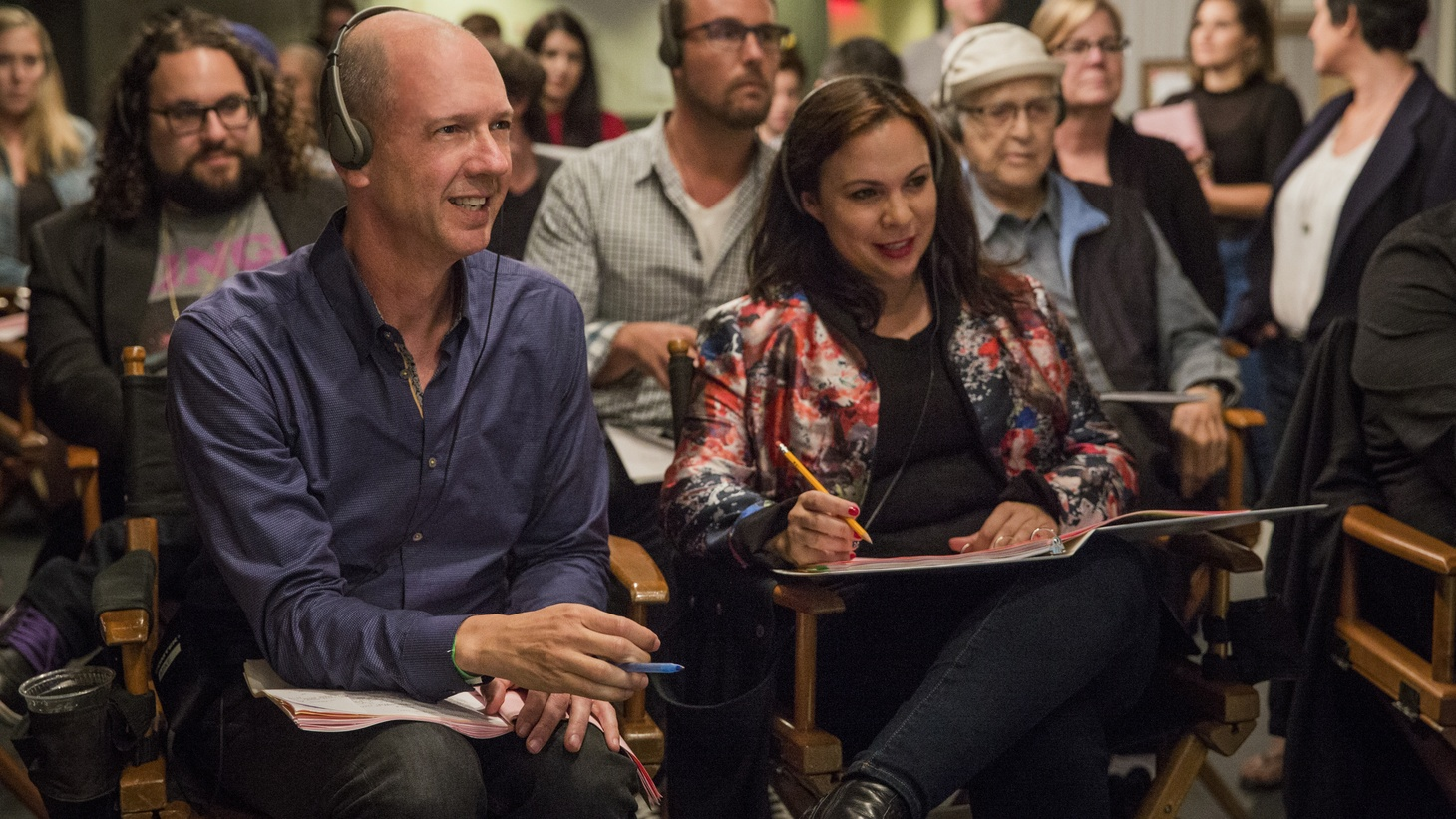'One Day at a Time' showrunners Mike Royce and Gloria Calderón Kellett.