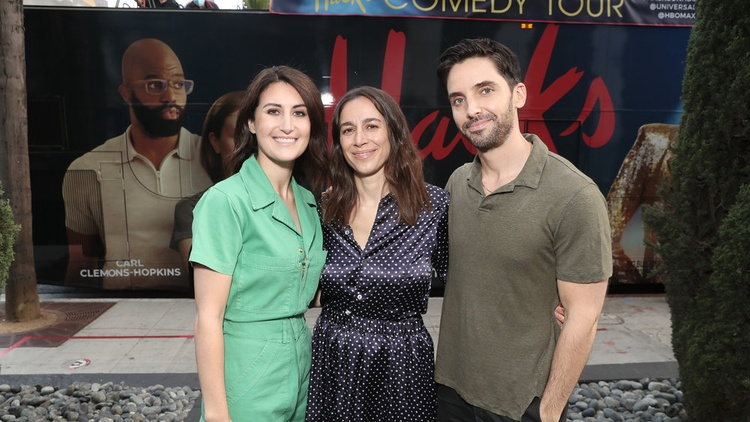 """Jen Statsky and Paul W. Downs are two of the three creators of the Emmy-nominated comedy series """"Hacks."""""""