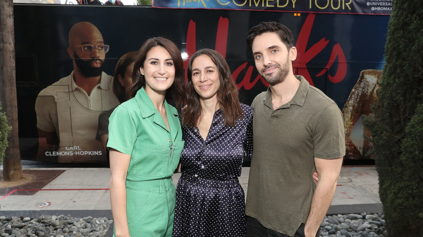 """Jen Statsky, Lucia Aniello, and Paul W. Downs created the Emmy-nominated series """"Hacks"""" on HBO Max."""