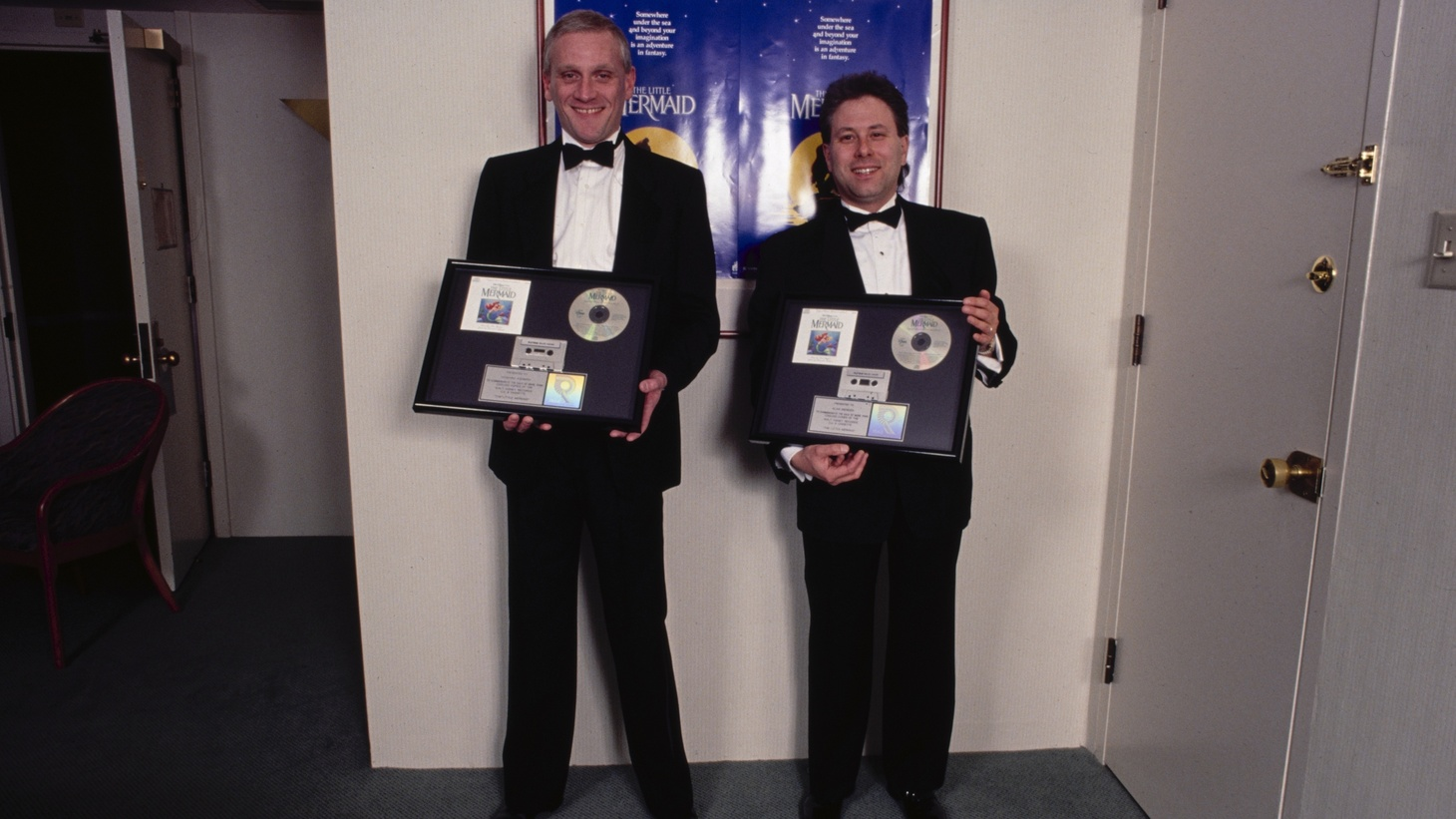 """Howard Ashman (L) and Alan Menken (R) wrote the soundtracks for """"The Little Mermaid,"""" """"Beauty and the Beast,"""" and """"Aladdin."""""""