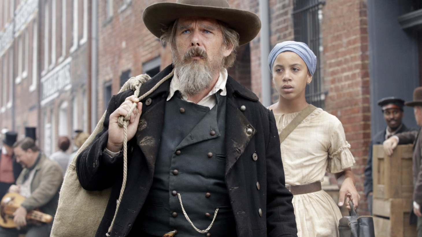 """Ethan Hawke (left) and Joshua Caleb Johnson (right) star in Showtime's """"The Good Lord Bird,"""" about the life of the abolitionist John Brown."""