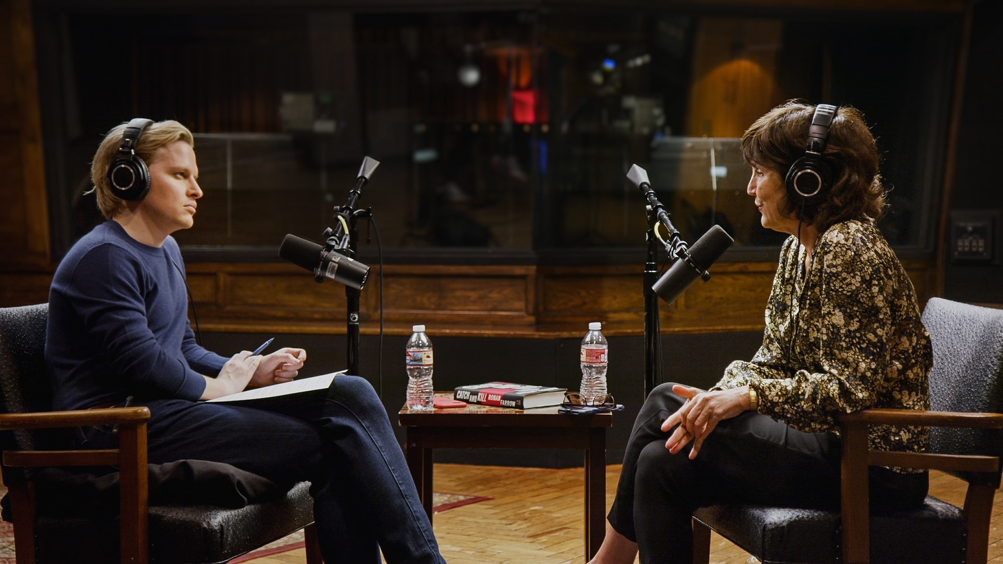 """Ronan Farrow interviews Kim Masters for his """"Catch and Kill"""" podcast. The documentary series """"Catch and Kill: The Podcast Tapes"""" is now on HBO Max."""