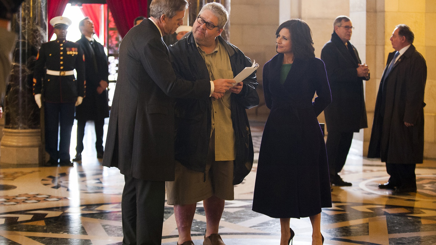 For the past two seasons, former Seinfeld and Curb Your Enthusiasm writer David Mandel has been showrunning HBO's Veep. And while the show can have eerie parallels to reality, Mandel tells us that more often than not, it's real life that ends up imitating Veep.
