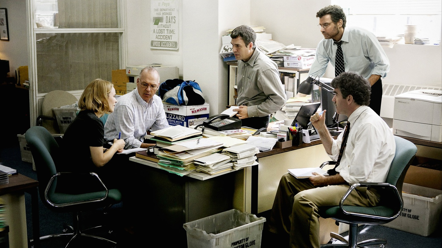 Despite a shrinking budget and difficult subject matter, director Tom McCarthy pulled together a stellar ensemble including Mark Ruffalo, Michael Keaton and Rachel McAdams to portray the unglamorous work of investigative reporting for his new movie Spotlight.