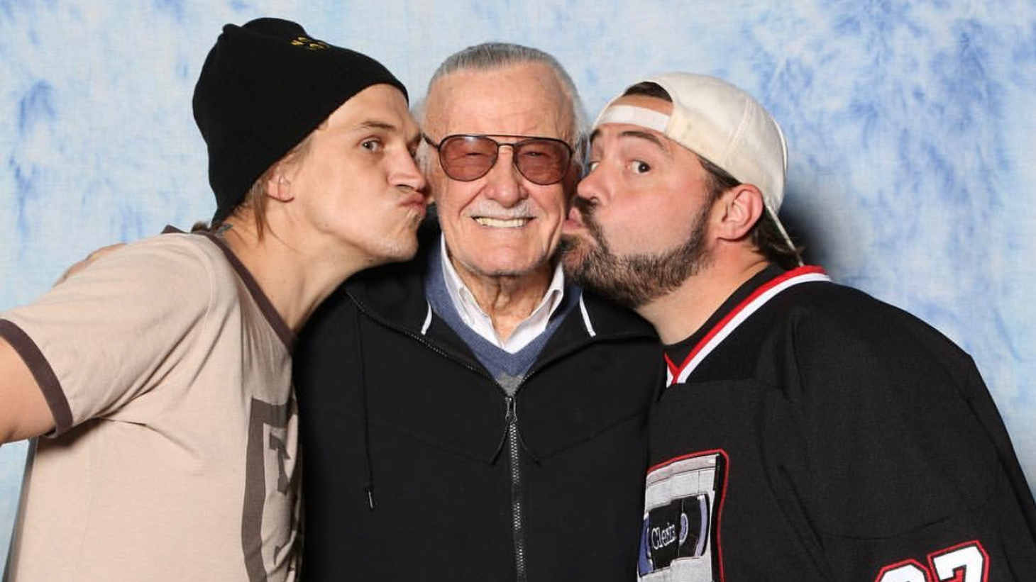Jason Mewes, Stan Lee and Kevin Smith.