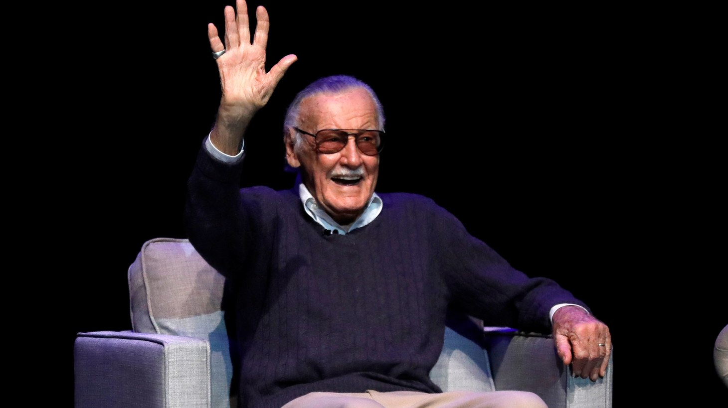 """Marvel Comics co-creator Stan Lee attends a tribute event """"Extraordinary: Stan Lee"""" at the Saban Theatre in Beverly Hills, California, U.S., August 22, 2017."""
