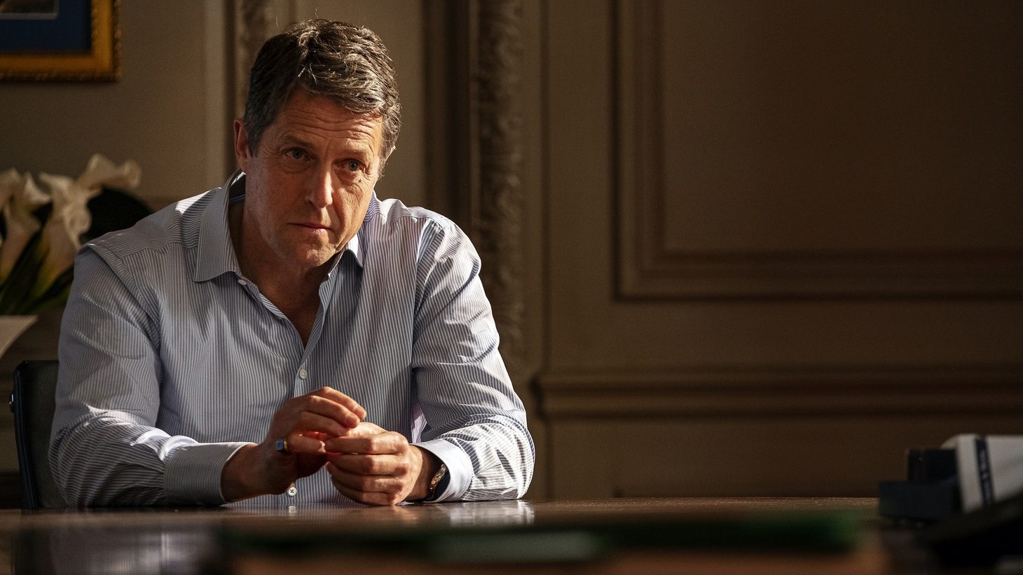 """These days, Hugh Grant wants to play the bad guy. Before taking the role in HBO's """"The Undoing,"""" he says, """"The only thing I needed to check was that I was the murderer."""""""