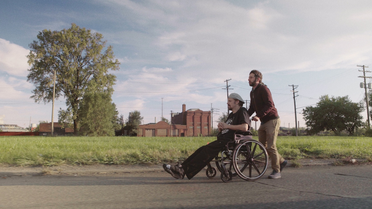Johnathan Szeles and director Ben Berman in 'The Amazing Johnathan Documentary,'