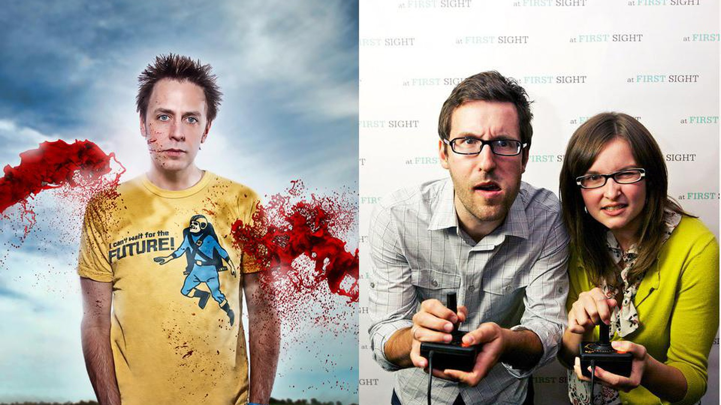 Cult filmmaker James Gunn writes and directs a video game. Plus, Lisanne Pajot and James Swirsky -- the filmmakers behind the new documentary Indie Game.