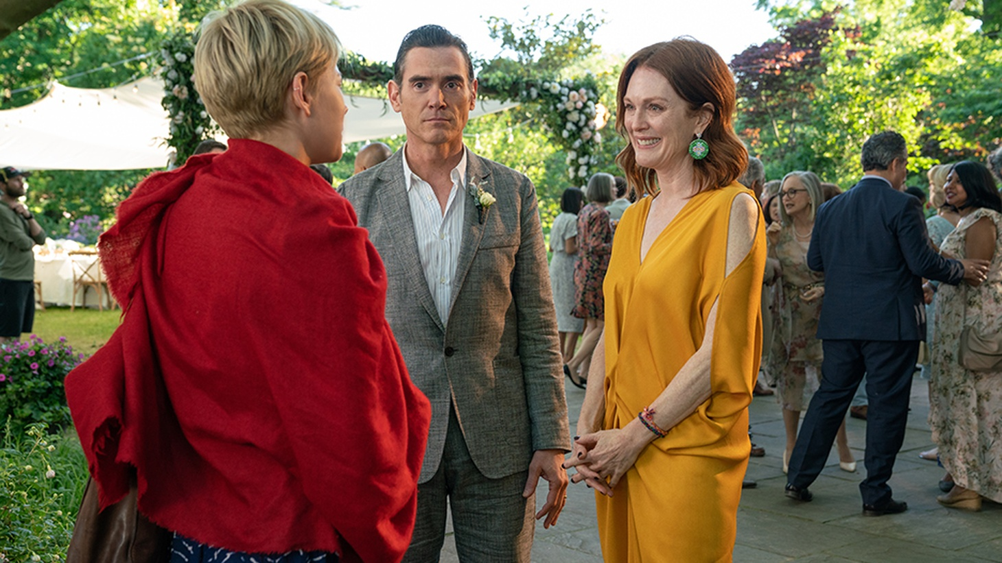 Michelle Williams as Isabel, Billy Crudup as Oscar, Julianne Moore as Theresa in 'After the Wedding.'