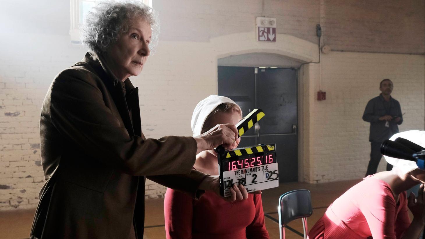 Author Margaret Atwood realizes that Hulu's adaptation of her Dystopian 1985 novel The Handmaid's Tale has gotten a huge PR boost, thanks to a turn of events that hardly seemed possible when work on the series was underway. Atwood and showrunner Bruce Miller talk about adapting the story for television and the eerie timeliness of the new series.