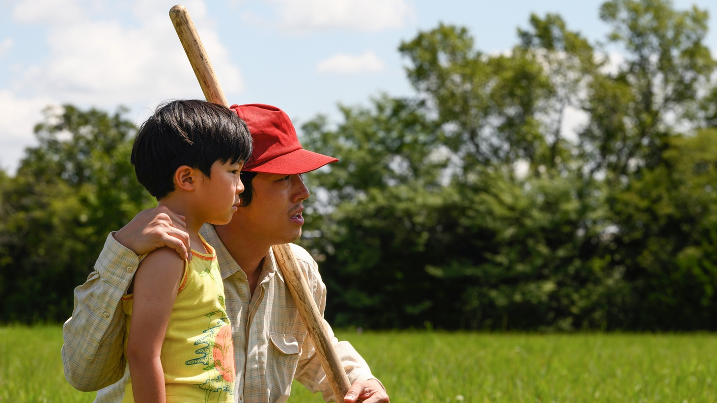 """Alan S. Kim and Steven Yeun in """"Minari,"""" a personal new film from director Lee Isaac Chung."""