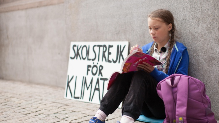 Greta Thunberg began a school strike movement in 2018 outside the Swedish parliament. It gained momentum in Sweden, then spread through the rest of Europe and the world.